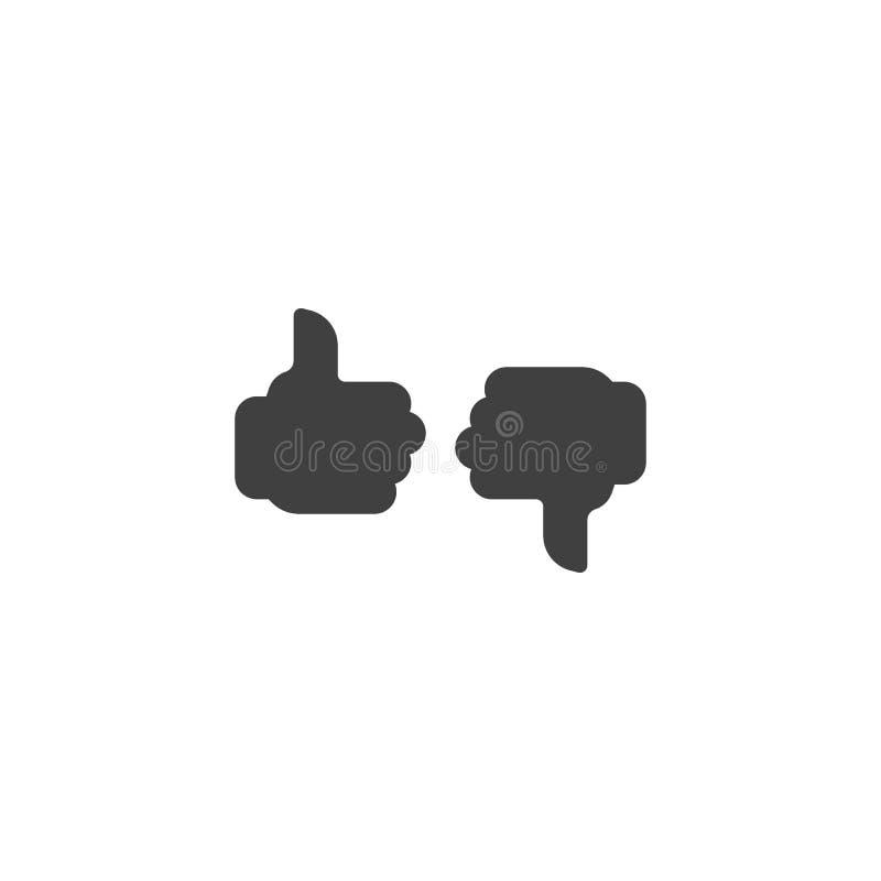 Icono del vector del gusto y de la aversión ilustración del vector