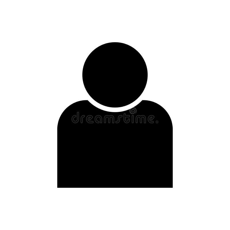 Icono del vector del hombre ilustración del vector