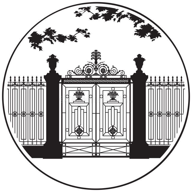 Icono del vector del jardín del verano de St Petersburg imágenes de archivo libres de regalías