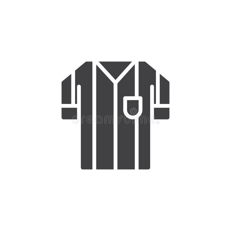 Icono del vector del jersey del árbitro del fútbol ilustración del vector