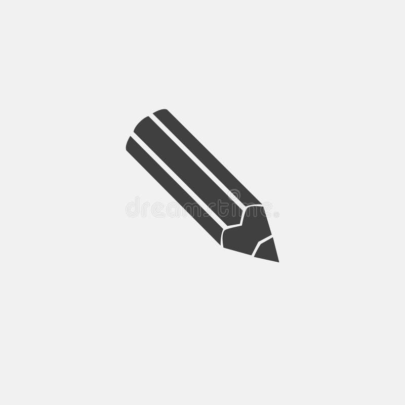 Icono del vector del lápiz libre illustration