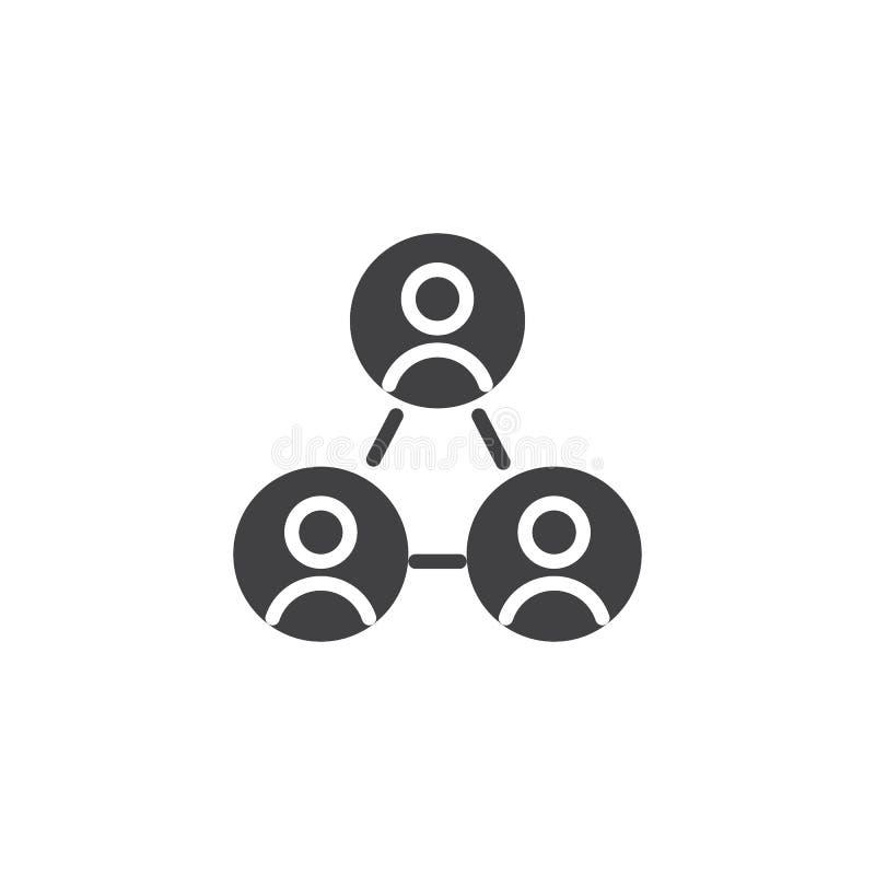 Icono del vector del líder de equipo stock de ilustración