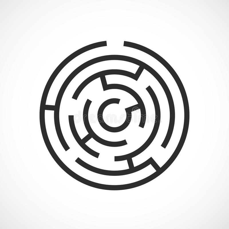 Icono del vector del laberinto del laberinto stock de ilustración