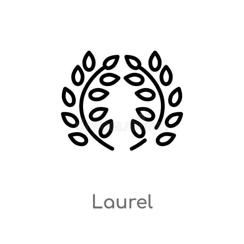 icono del vector del laurel del esquema r laurel editable del movimiento del vector ilustración del vector