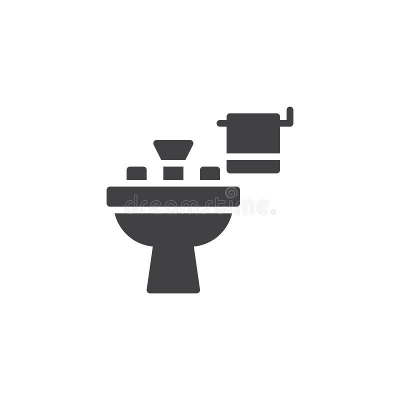Icono del vector del lavabo libre illustration