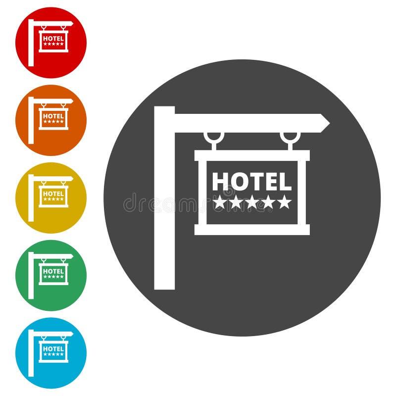 Icono del vector del letrero del hotel libre illustration
