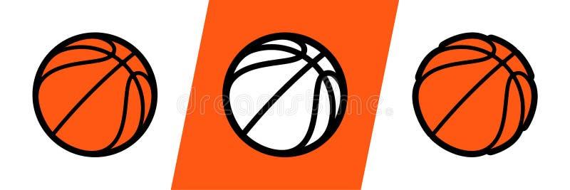 Icono del vector del logotipo del baloncesto para la liga del equipo del torneo, de la escuela o de la universidad del campeonato stock de ilustración