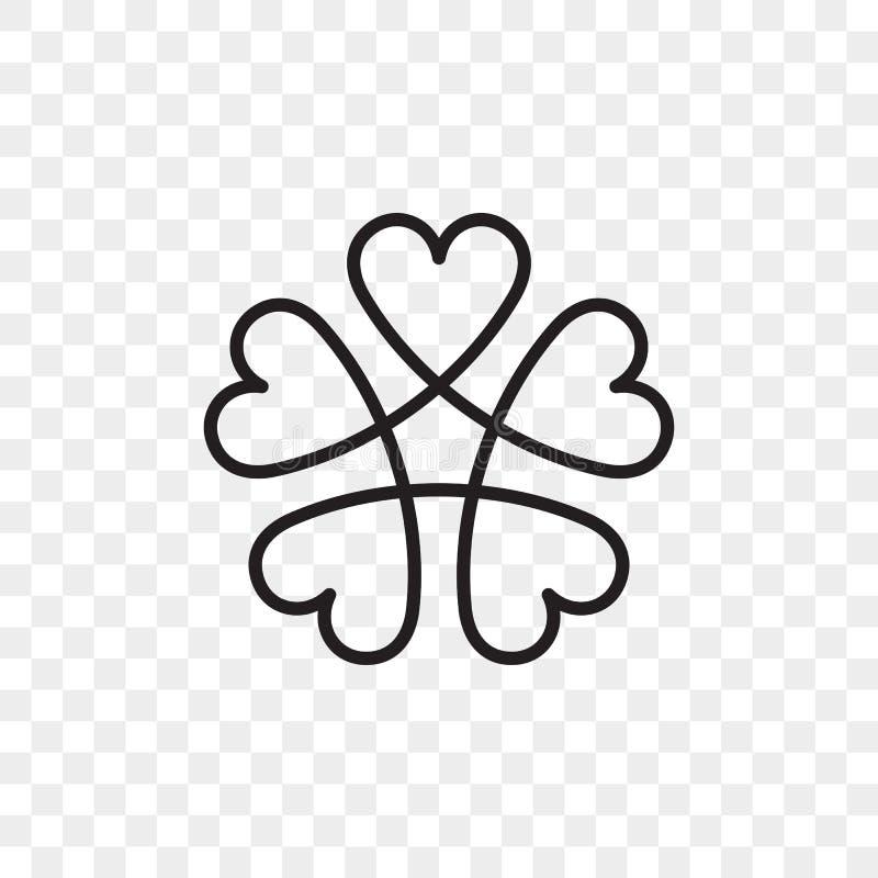 Icono del vector del logotipo del corazón stock de ilustración
