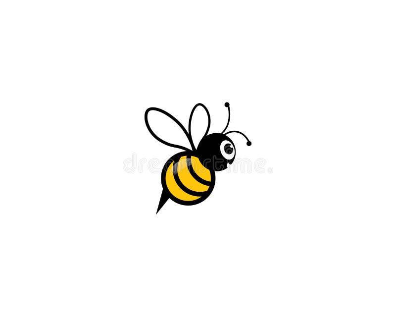 Icono del vector del logotipo de la abeja stock de ilustración
