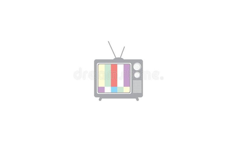 Icono del vector del logotipo de la cadena de televisión libre illustration