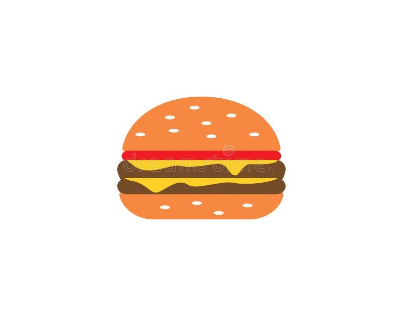 Icono del vector del logotipo de la hamburguesa ilustración del vector