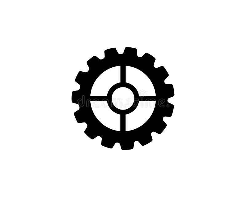 icono del vector del logotipo del icono del engranaje stock de ilustración