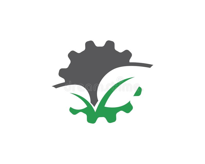 icono del vector del logotipo del icono del engranaje libre illustration