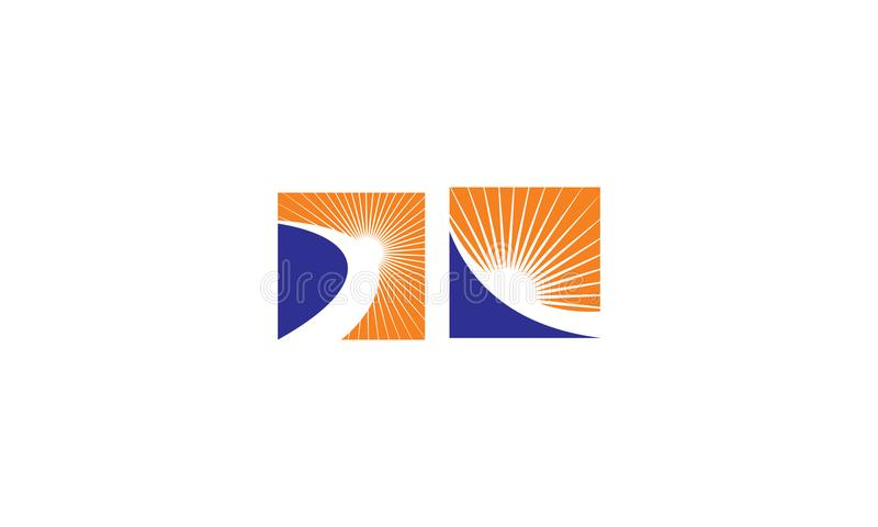 Icono del vector del logotipo del extracto del camino del sol del éxito libre illustration