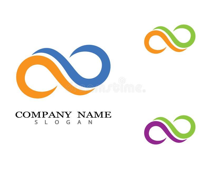Icono del vector del logotipo del infinito stock de ilustración