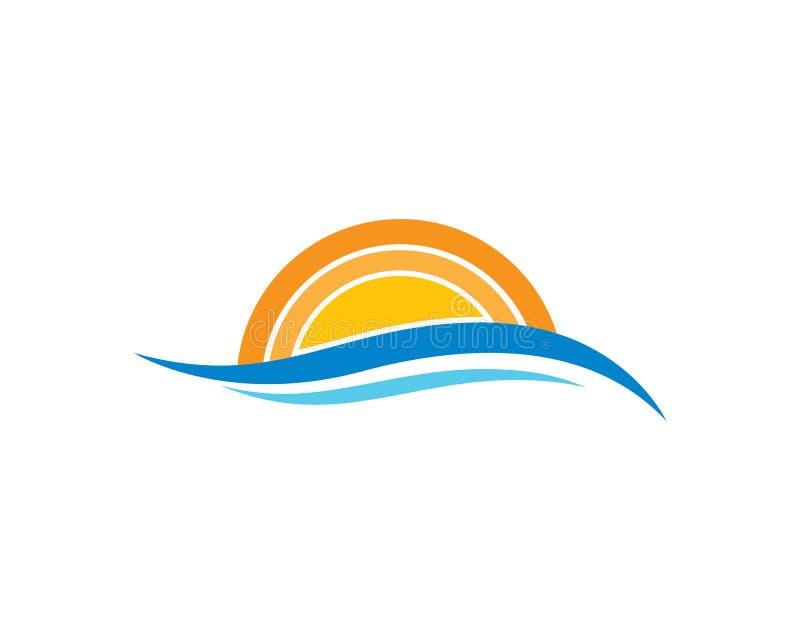 icono del vector del logotipo del verano stock de ilustración
