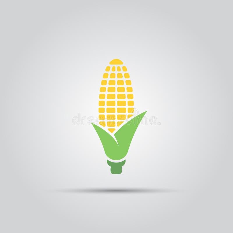 Icono del vector del maíz stock de ilustración