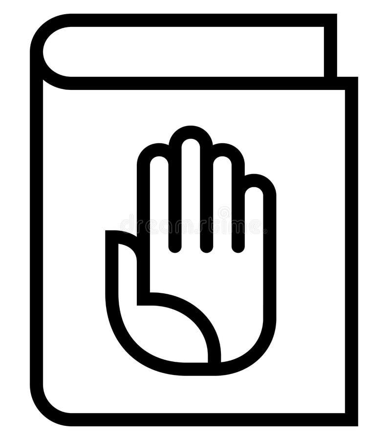 Icono del vector del manual ilustración del vector