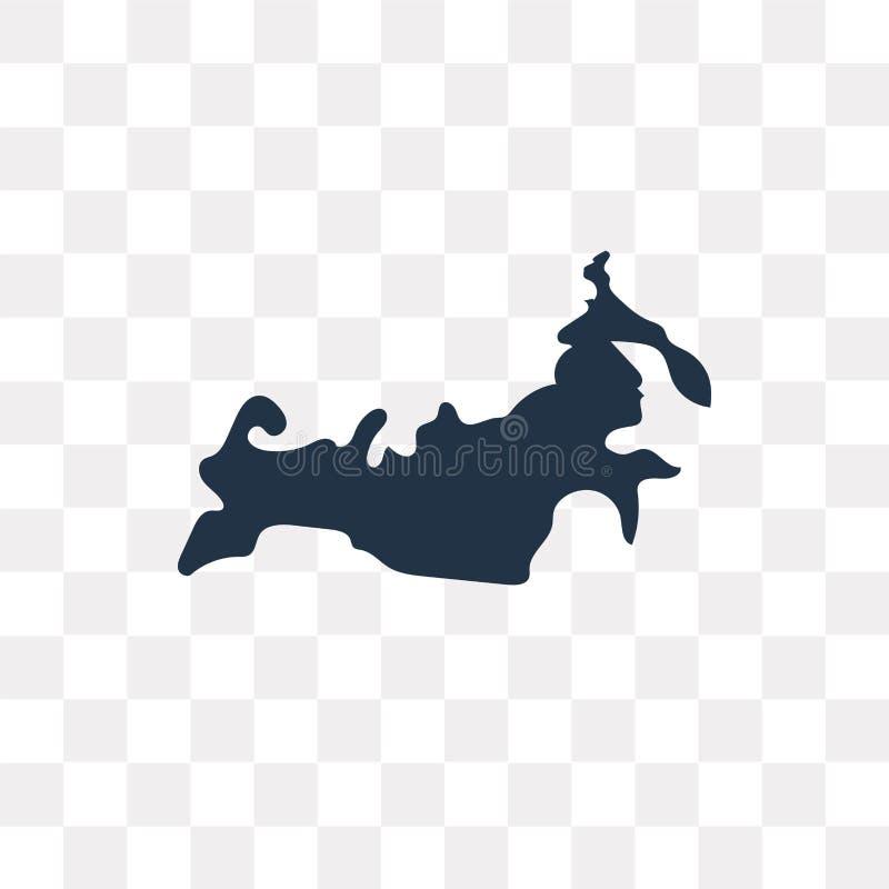 Icono del vector del mapa de Rusia aislado en el fondo transparente, Russi ilustración del vector