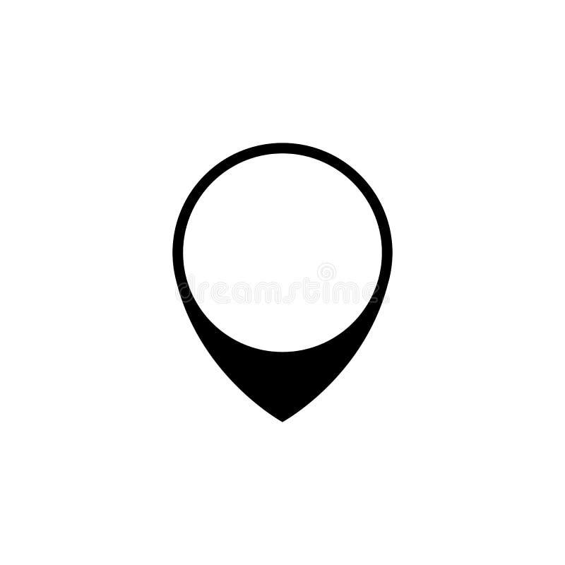 Icono del vector: Marca del mapa, ejemplo negro aislado, elemento plano del diseño ilustración del vector
