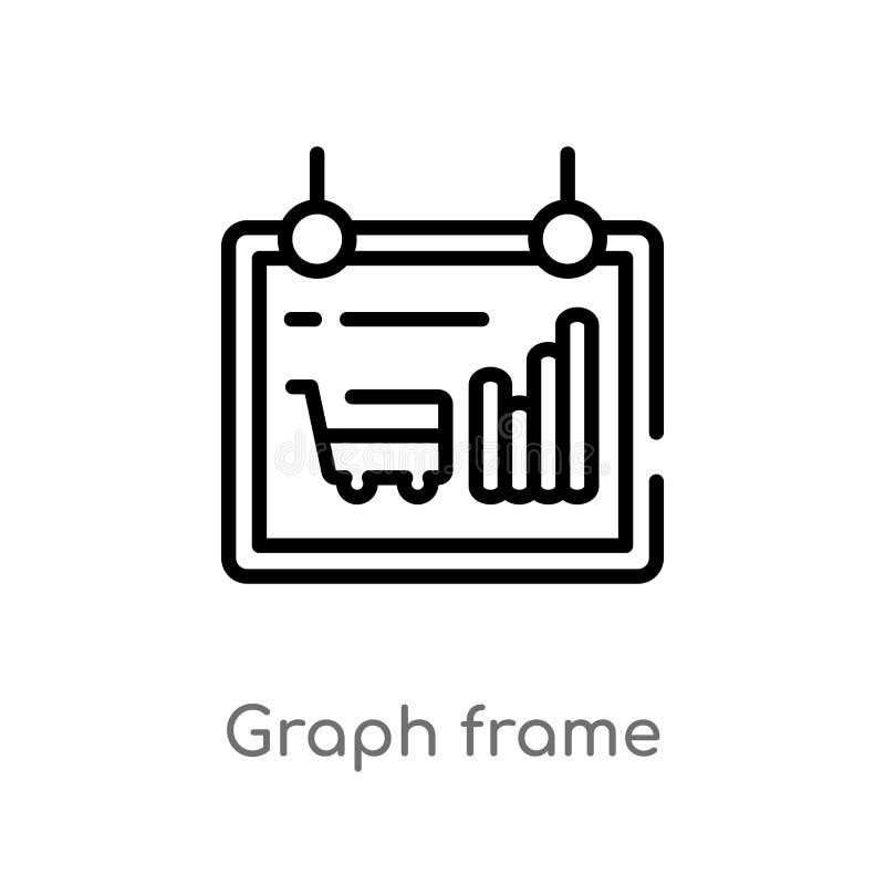 icono del vector del marco del gr?fico del esquema l?nea simple negra aislada ejemplo del elemento del concepto del comercio Movi ilustración del vector
