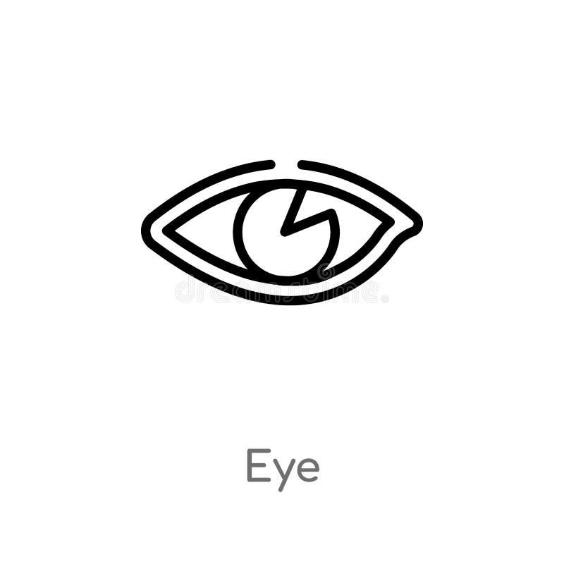 icono del vector del ojo del esquema l?nea simple negra aislada ejemplo del elemento del concepto de la fotograf?a icono editable ilustración del vector