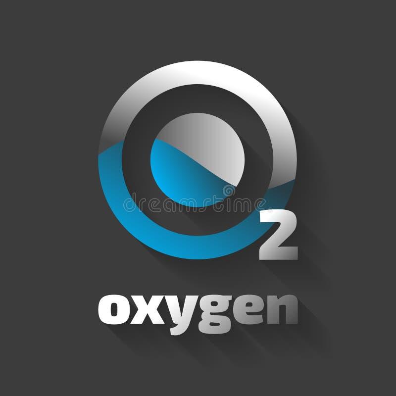 Icono del vector del oxígeno ilustración del vector