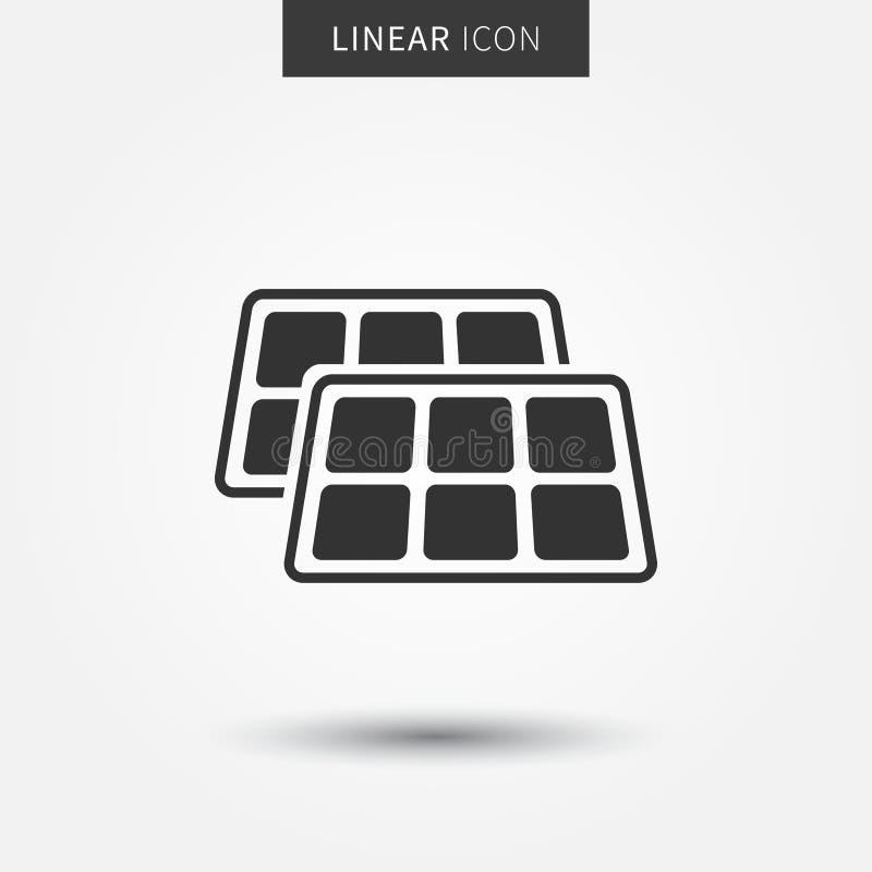 Icono del vector del panel solar libre illustration