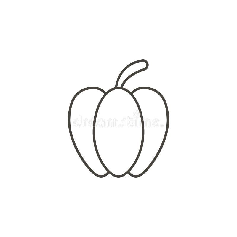 Icono del vector del paprika Ejemplo simple del elemento del concepto de la comida Icono del vector del paprika Ejemplo del vecto stock de ilustración