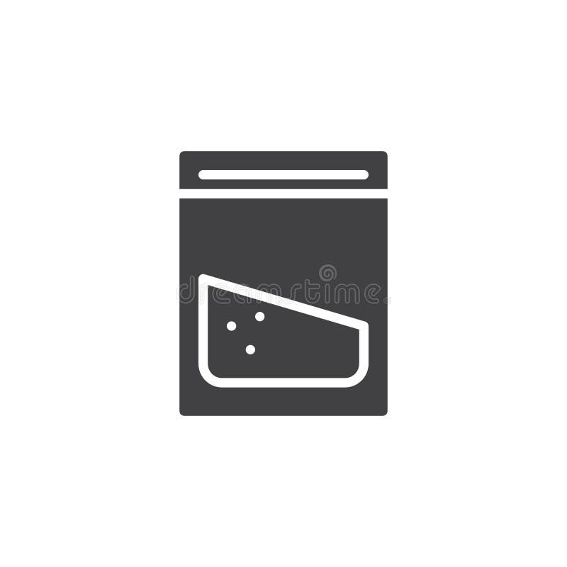 Icono del vector del paquete de la cocaína ilustración del vector