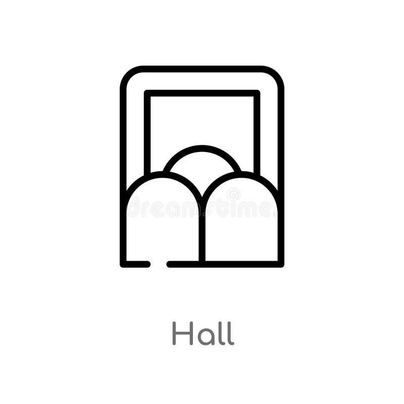 icono del vector del pasillo del esquema línea simple negra aislada ejemplo del elemento del concepto de la interfaz de usuario p libre illustration