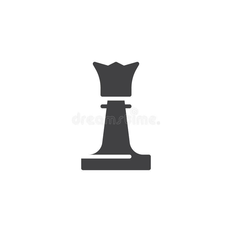 Icono del vector del pedazo de ajedrez de la reina libre illustration