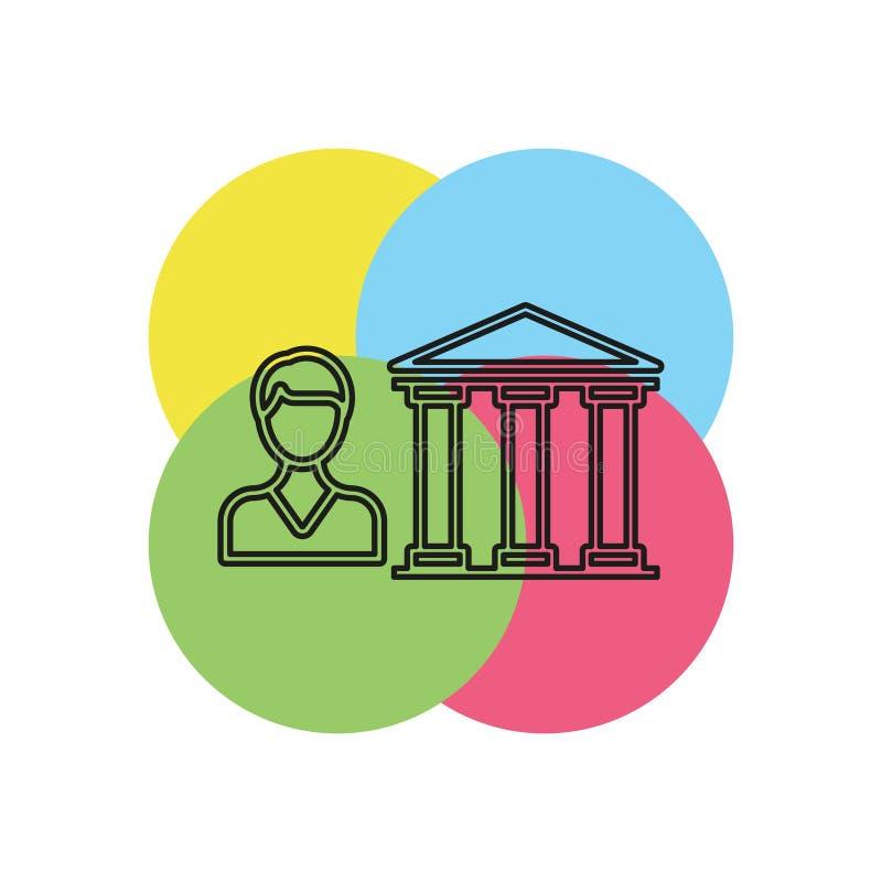 Icono del vector del préstamo de actividades bancarias ilustración del vector