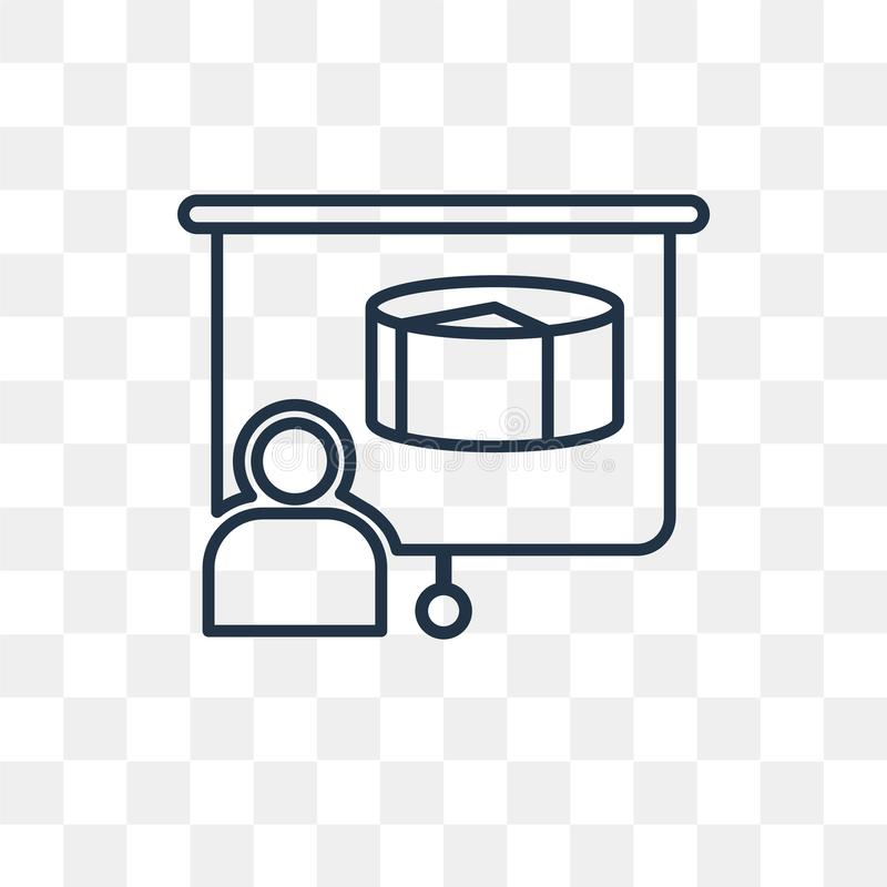 Icono del vector del proyecto aislado en el fondo transparente, P linear stock de ilustración