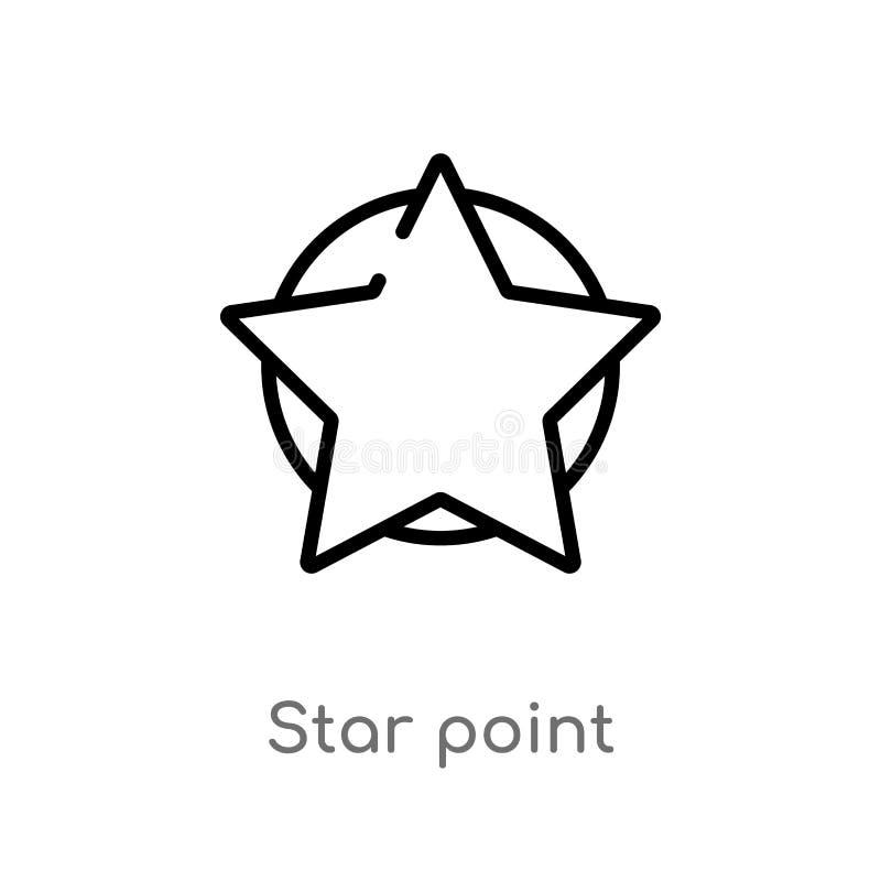 icono del vector del punto de la estrella del esquema l?nea simple negra aislada ejemplo del elemento del ?ltimo concepto de los  stock de ilustración
