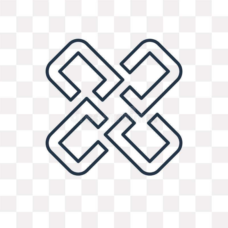 Icono del vector que entrelaza aislado en el fondo transparente, lin ilustración del vector