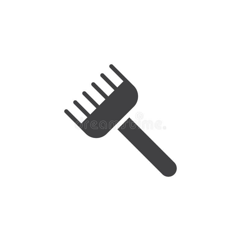 Icono del vector del rastrillo libre illustration