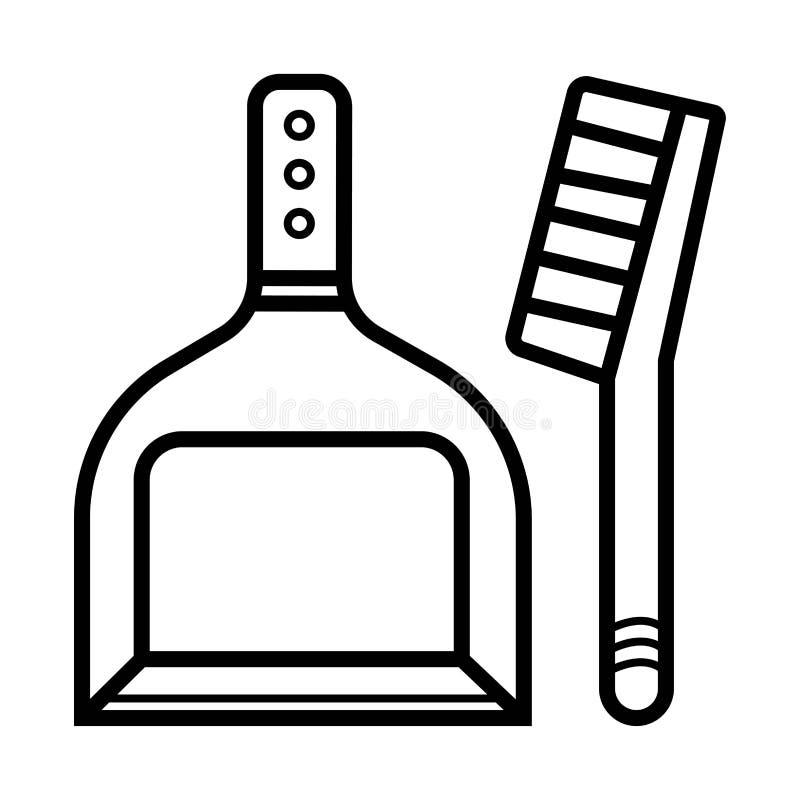 Icono del vector del recogedor de polvo stock de ilustración