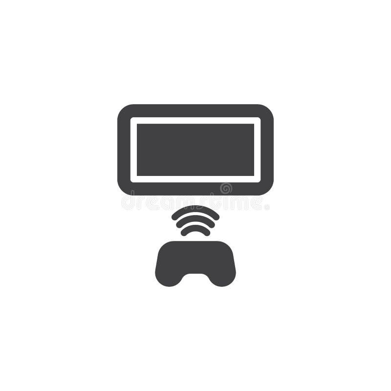 Icono del vector del regulador del gamepad de la conexión inalámbrica libre illustration