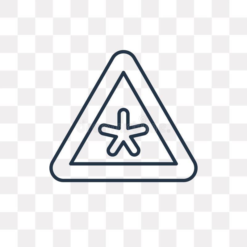 Icono del vector del riesgo aislado en el fondo transparente, riesgo linear libre illustration