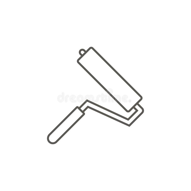 Icono del vector del rodillo de pintura Ejemplo simple del elemento del mapa y del concepto de la navegaci?n Icono del vector del libre illustration