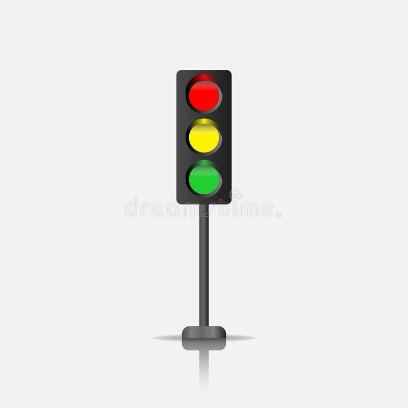 Icono del vector del semáforo libre illustration