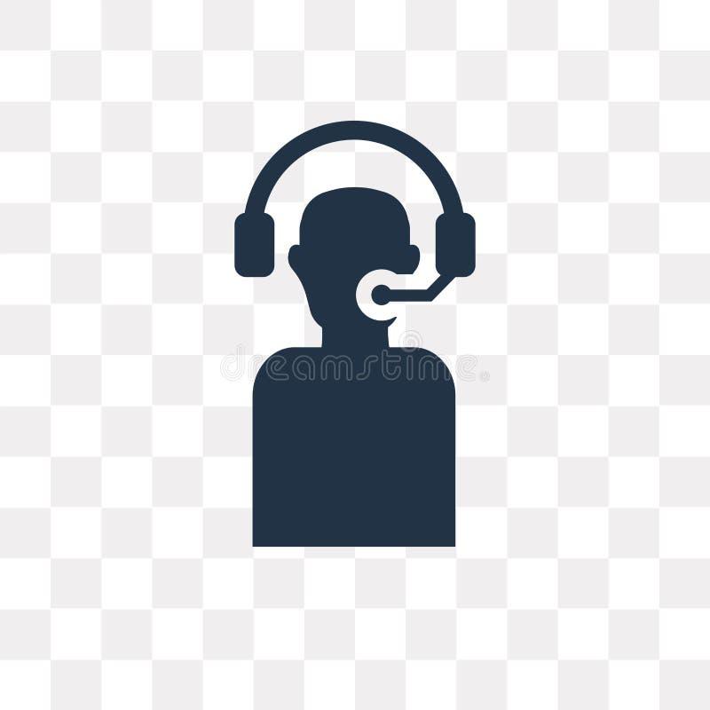Icono del vector del servicio de atención al cliente aislado en fondo transparente, libre illustration