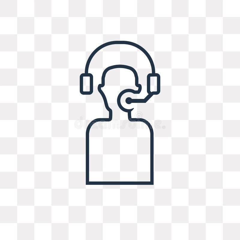 Icono del vector del servicio de atención al cliente aislado en fondo transparente, ilustración del vector