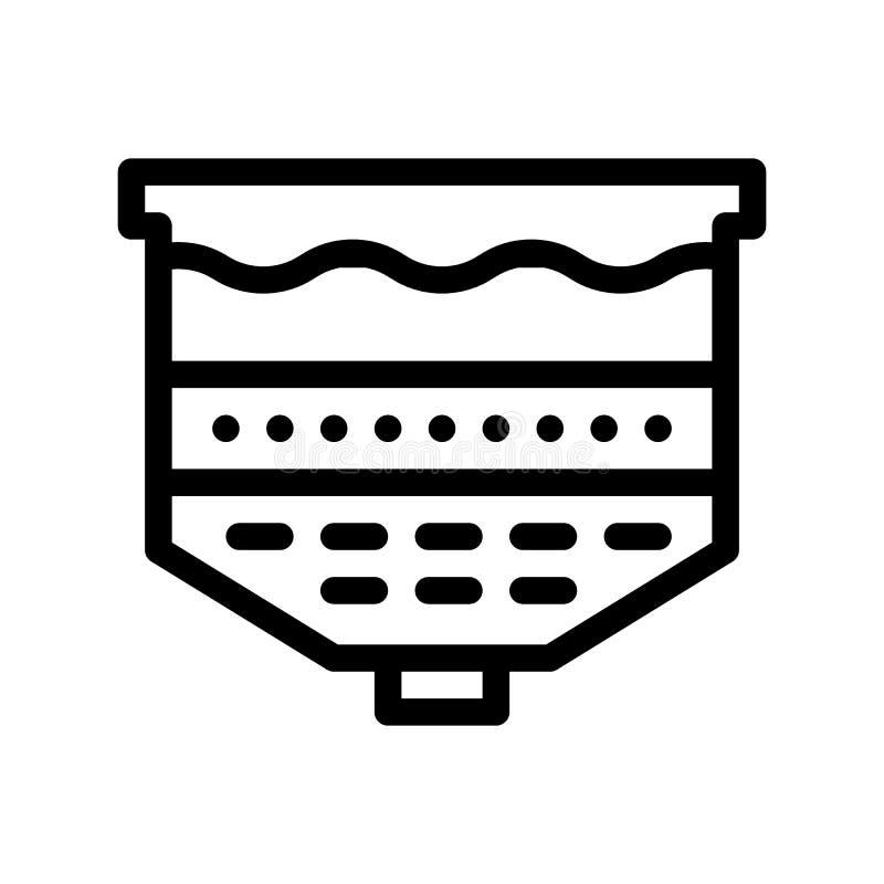 Icono del vector del sistema de la filtración del tratamiento de aguas stock de ilustración