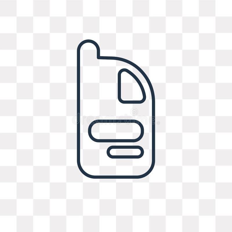 Icono del vector del suavizador aislado en el fondo transparente, linear libre illustration