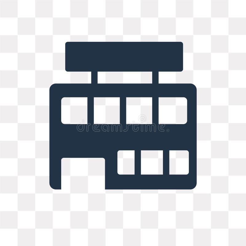 Icono del vector del supermercado aislado en el fondo transparente, Supe ilustración del vector