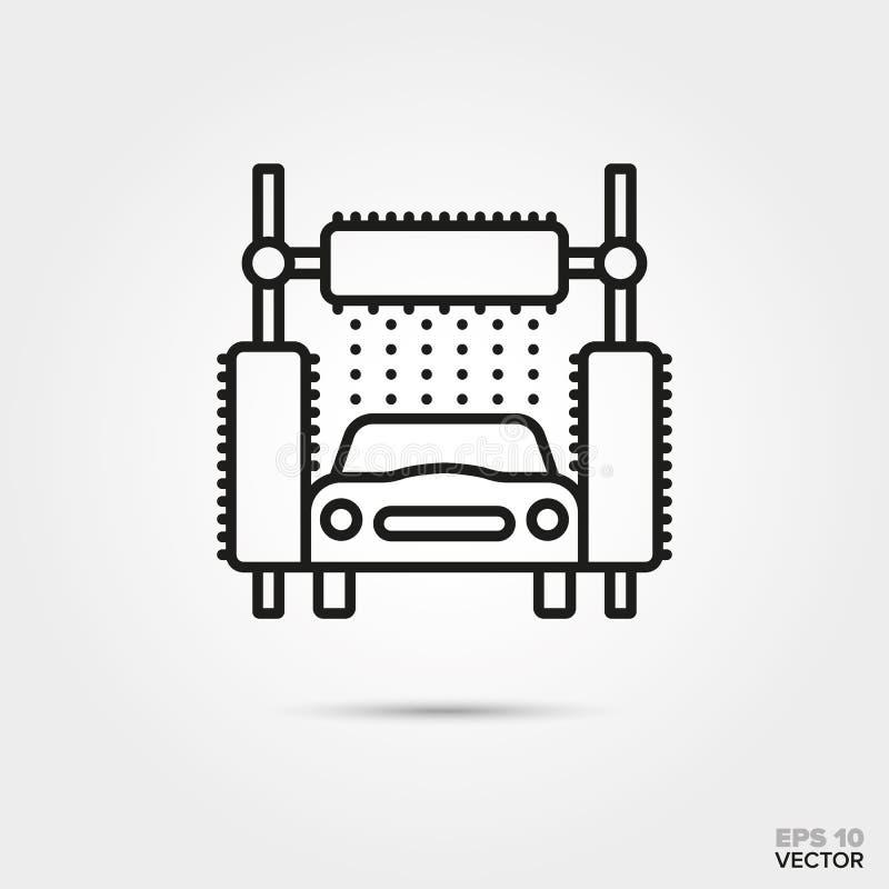 Icono del vector del túnel de lavado stock de ilustración