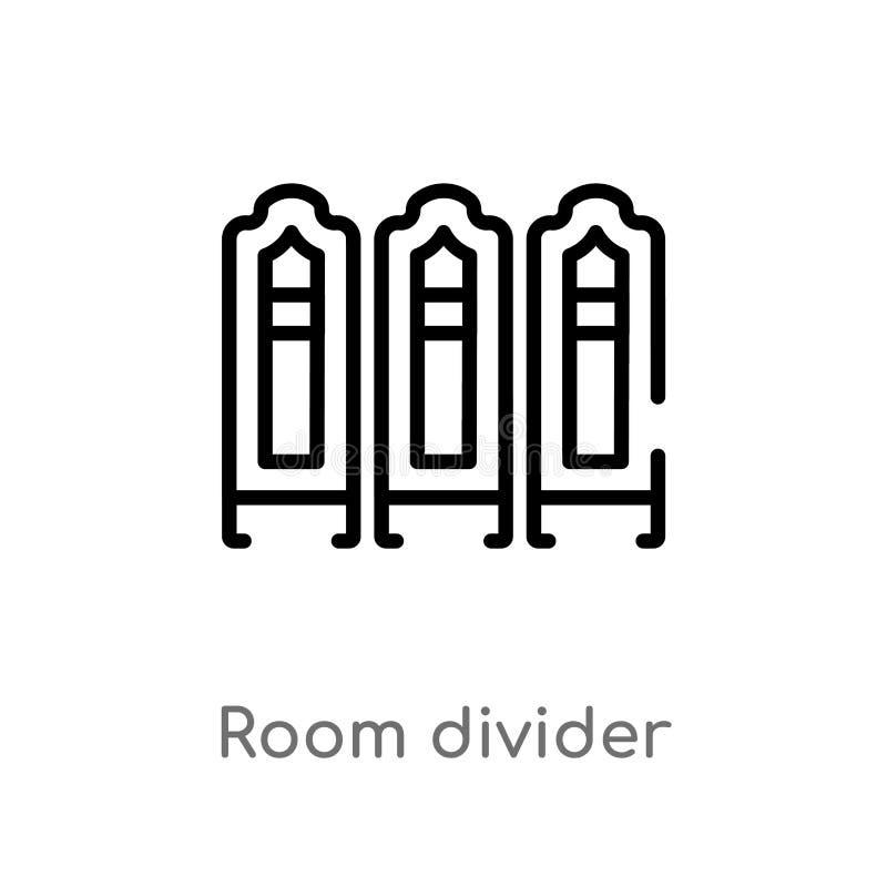 icono del vector del tabique del esquema l?nea simple negra aislada ejemplo del elemento del concepto de los muebles y del hogar  stock de ilustración