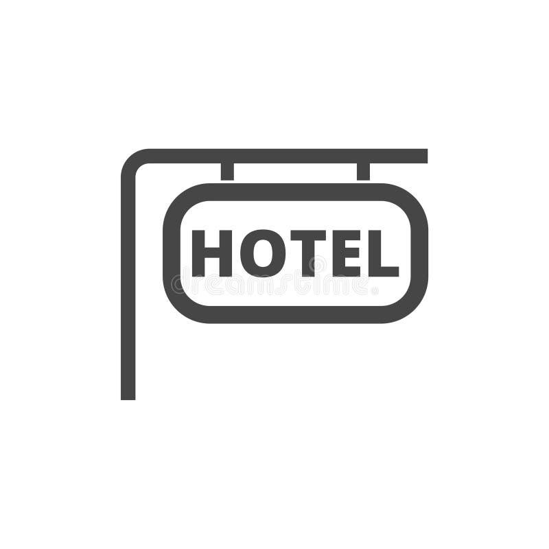 Icono del vector del tablero de la información, icono del hotel stock de ilustración